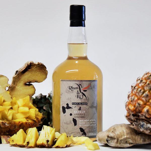 Rhum&Ko Rhum Store punch ananas gingembre rhum arrangé